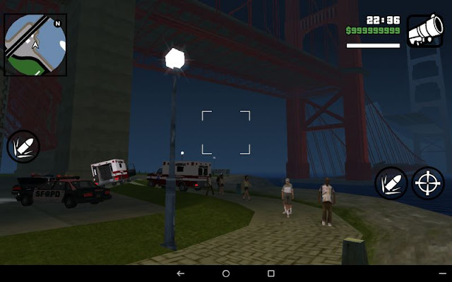 Collapsed Giant Red Bridge GTA SA Android screenshots