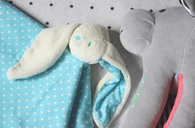 A picture of toTs Joy Bunny Comforter and Whisbear The Humming Bear