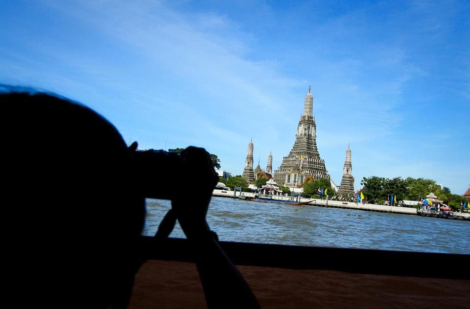 Wat Arun from Chao Phraya River Ferry