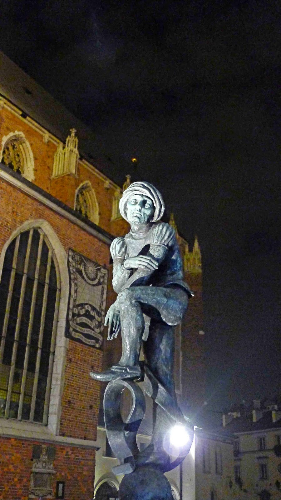 Statue Outside St. Mary's Basilica