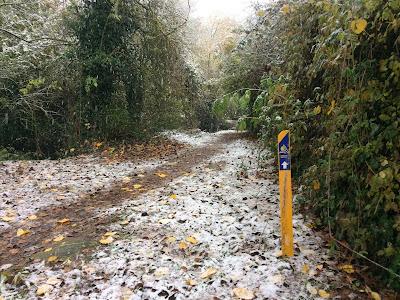 Agroturismo Arkaia. Nieve en Arkaia. Camino de Santiago hacia Vitoria - Gasteiz