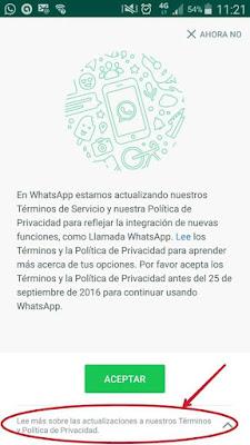 Privacidad en Washapp y Facebook
