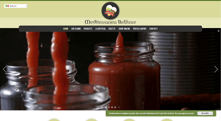 Picture to Italian food exporter company named Mediterranea Belfiore Srl