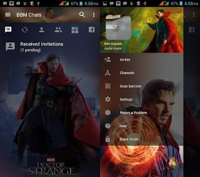 BBM Mod Doctor Strange v3.2.0.6 APK (BBM Transparan 2017)