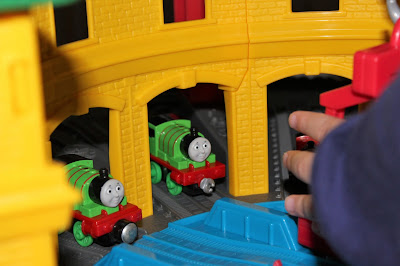 Thomas and friends, Thomas super station, Christmas, toys, must have toy, Thomas the tank engine, cranky the crane, Harold helicopter, mattel, kids toys, toy trains, trains, throughamiseyes,