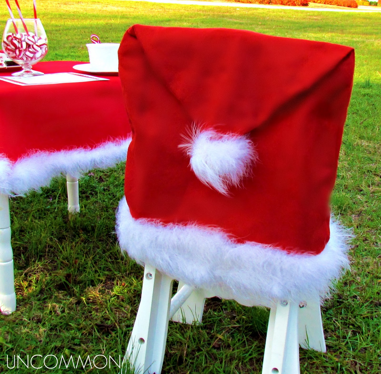 dollar tree pumpkin chair covers childs rocking uncommon events letter to santa party a free printable