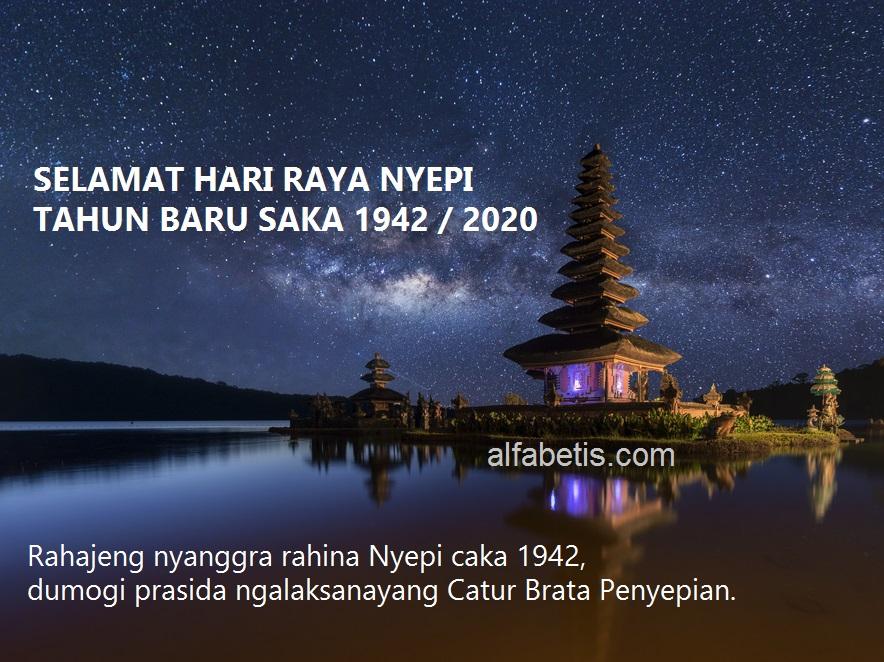 Gambar Ucapan Nyepi Terpopuler Dalam Bahasa Bali