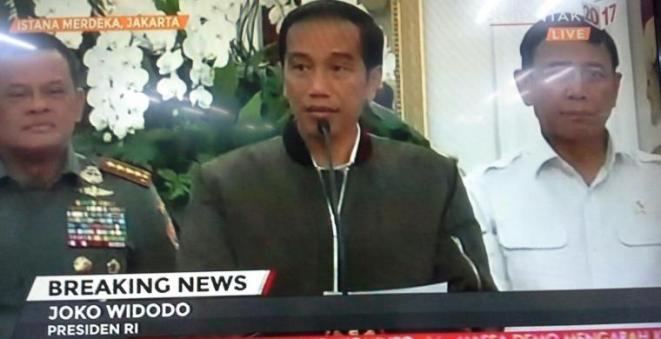 Jokowi: Kerusuhan Usai Demo 4 November Ditunggangi Aktor Politik