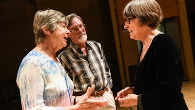 BCMG's oboist Melinda Maxwell with Sound Investors - photo BCMG