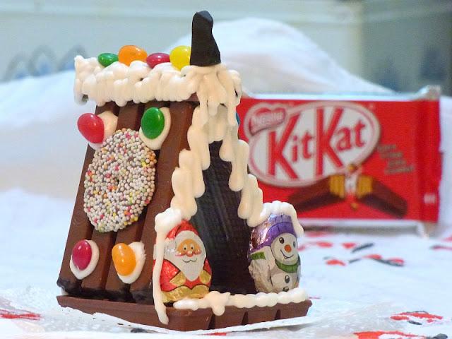 Kitkat Weihnachtshäuschen für Kinder