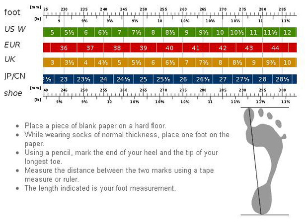 How to measure shoe size for online shopping