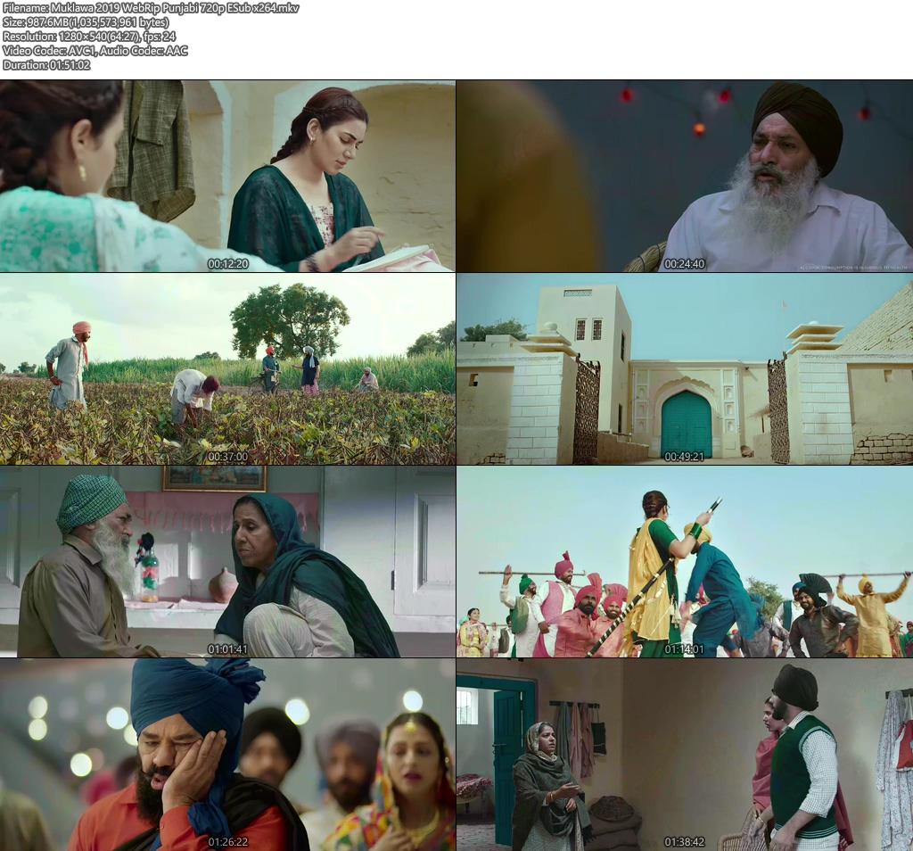 Muklawa 2019 WebRip Punjabi 720p ESub x264 | 480p 300MB | 100MB HEVC Screenshot