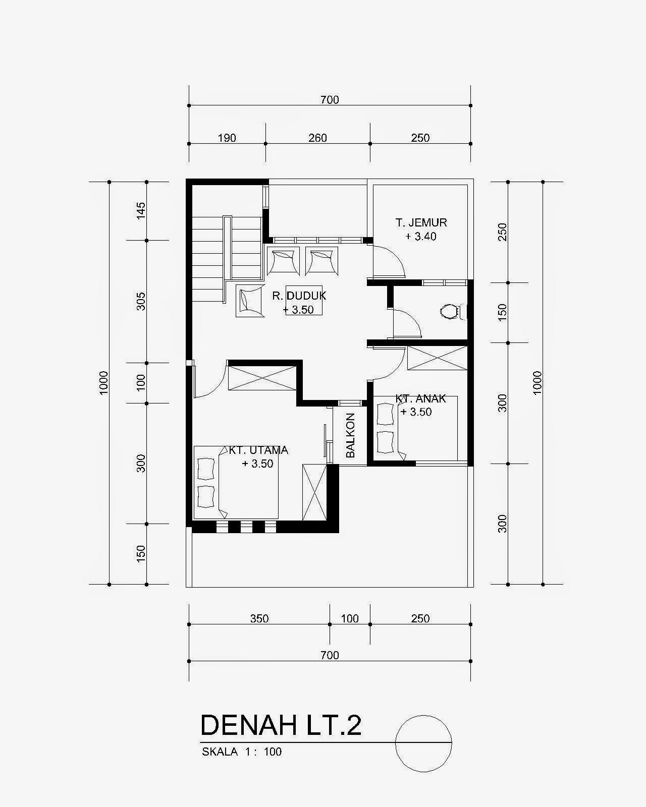 Cara Membuat Denah Rumah 1 Lantai Lengkap Rancanghunian