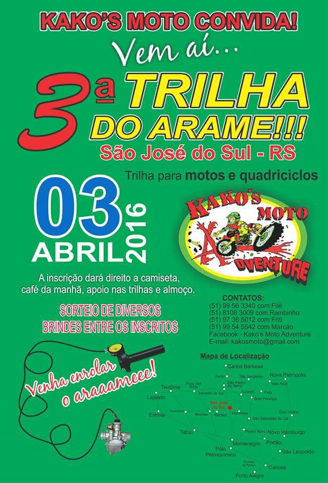 SÃO JOSÉ DO SUL-RS, 03 Abr 16