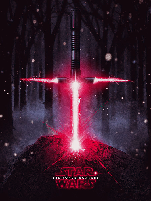 Poster Star Wars: The Force Awakens - Patrick Connan