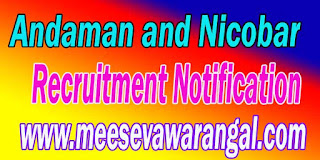 Andaman and Nicobar Islands Police Recruitment Notification 2016 Posts Apply Online