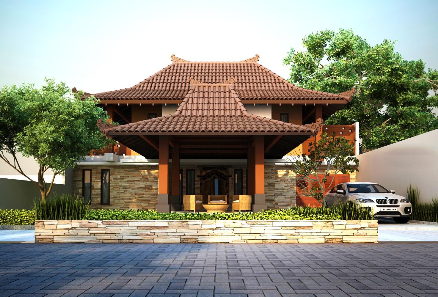 45 Desain Rumah Joglo Khas Jawa Tengah  Desainrumahnya.com