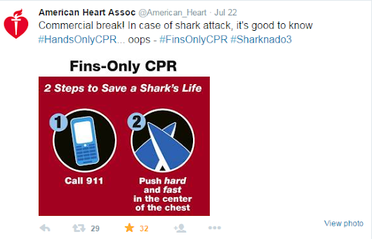 How the American Heart Association and the Red Cross Won #Sharknado3