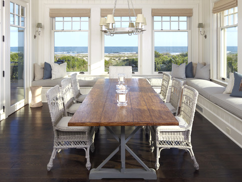 window seats in dining room