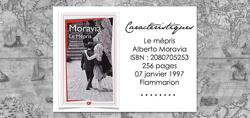 Couverture du livre Le mépris d'Alberto Moravia