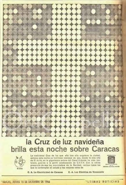 Nota de prensa de la Electricidad de Caracas sobre el encendido de la Cruz del Avila