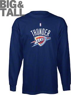 Big and Tall Oklahoma City Thunder Long Sleeve Shirt