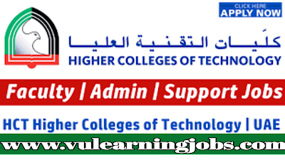 Higher Colleges of Technology (HCT) Staff Recruitment UAE || Jobs In Middle East