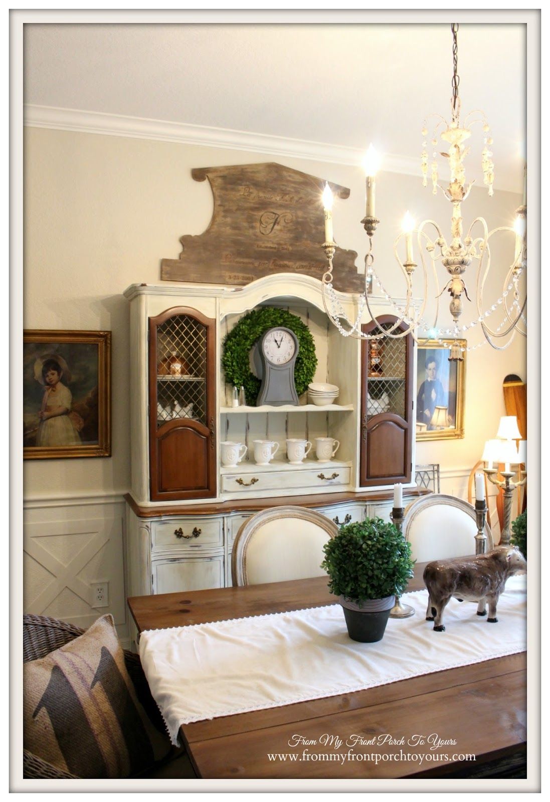 From my front porch to yours french country farmhouse for Front room dining room ideas