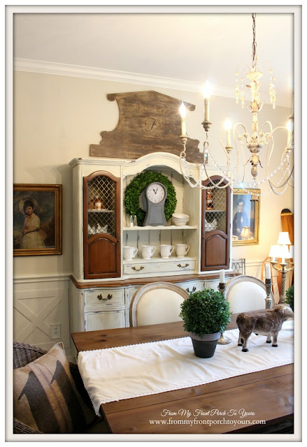 Farmhouse-French Country Dining Room- From My Front Porch To Yours