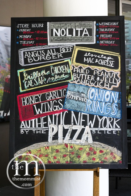 Nolita Pizzeria Bonifacio High Street Central Chalkboard Menu