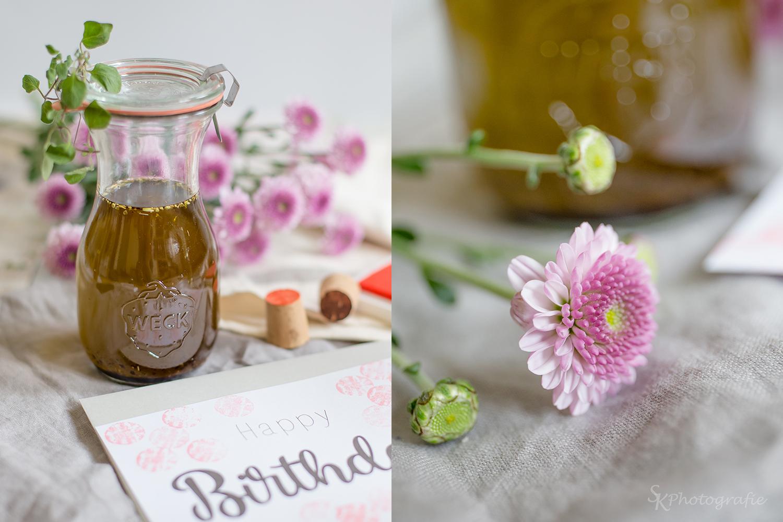 DIY: Selbstgemachte Geburtstagskarte mit Korken-Stempel und ein ...