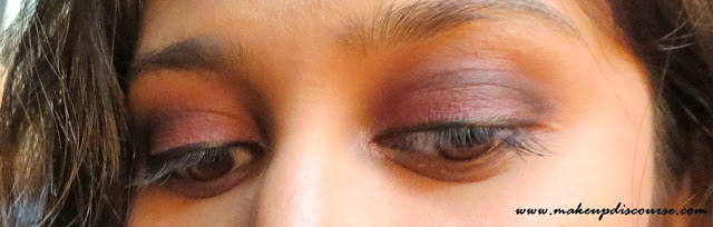 Matte Cranberry Smoky Eyemakeup with a Pop of Champange with Coastal Scents Revealed 2