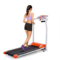 """Ancheer S8400 Electric Treadmill, with 1.5hp motor, speeds from 0.5 to 6 mph, 14"""" wide x 41"""" long running deck, 12 programs"""