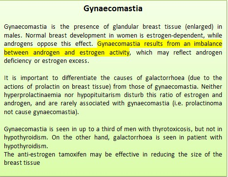 What are the causes of gynaecomastia?