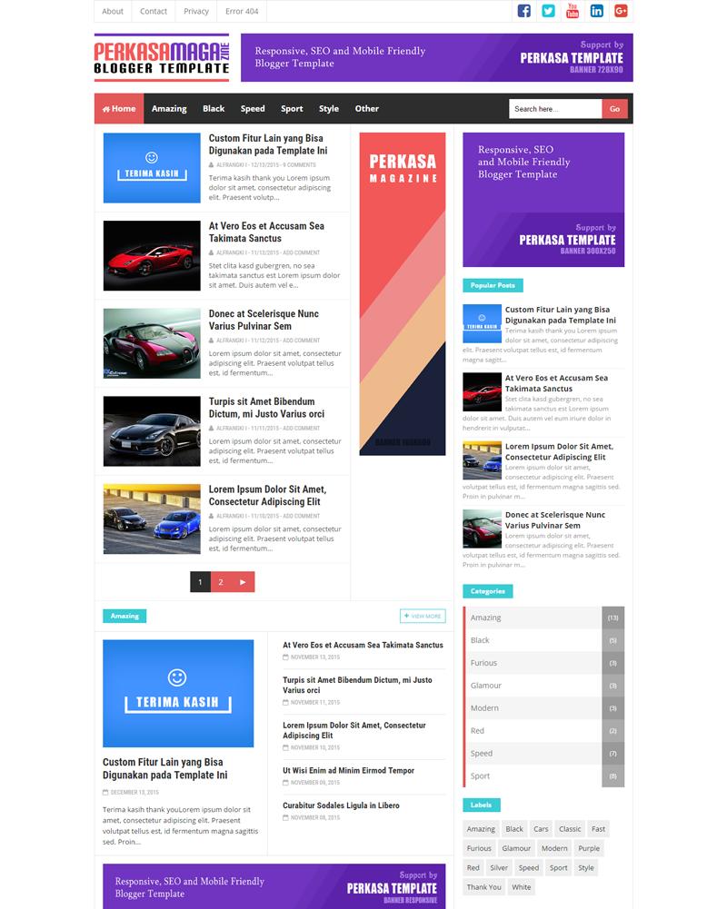 Perkasa Magazine - Premium Responsive and SEO Friendly Blogger Template