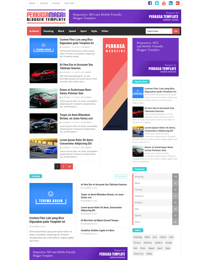 Perkasa Magazine Premium Responsive And Seo Friendly Blogger