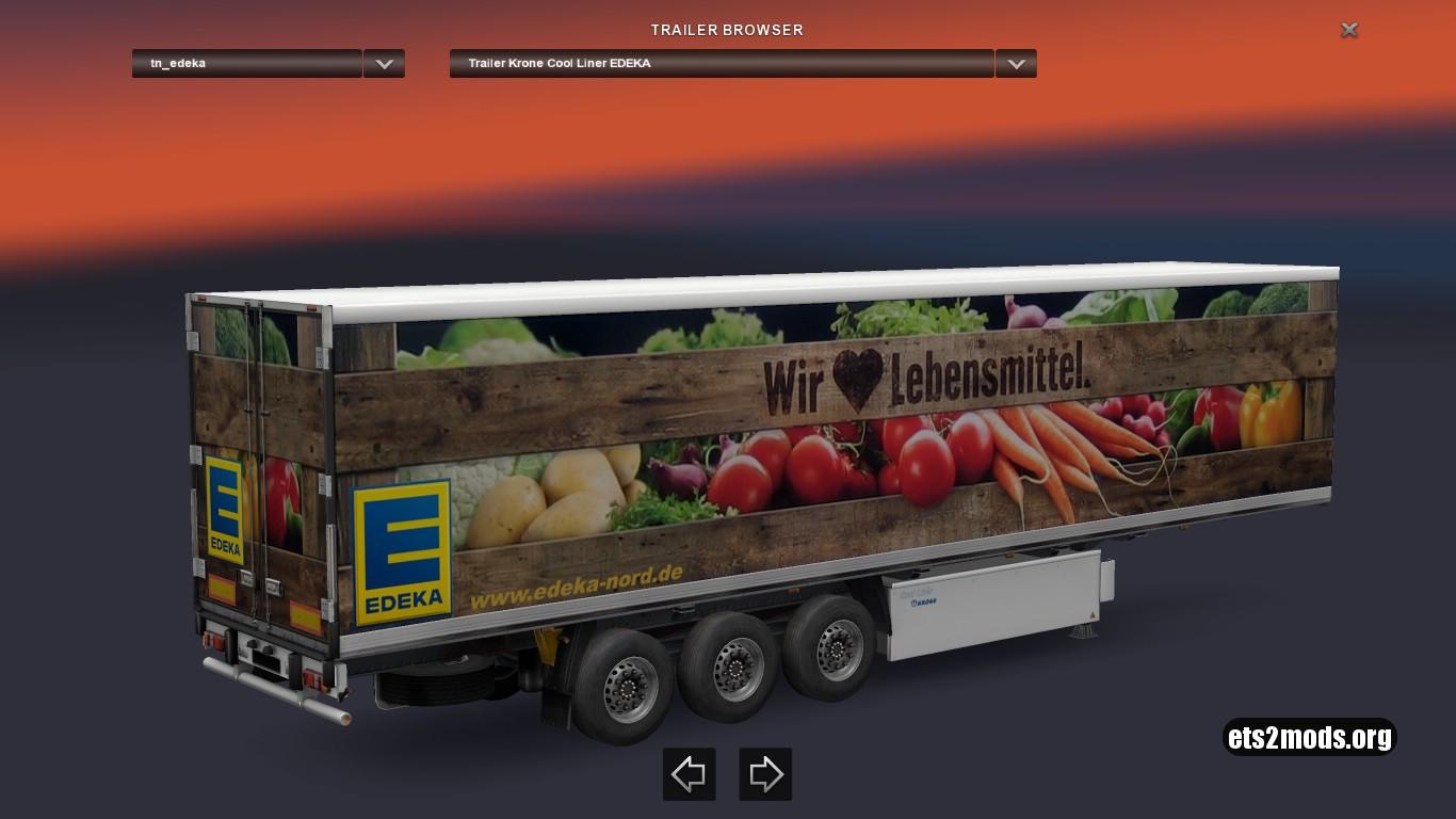 Krone Liner Edeka Trailer