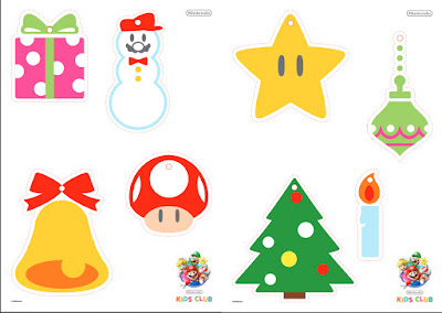 nintendo kids club mario christmas decoration cutout download pdf