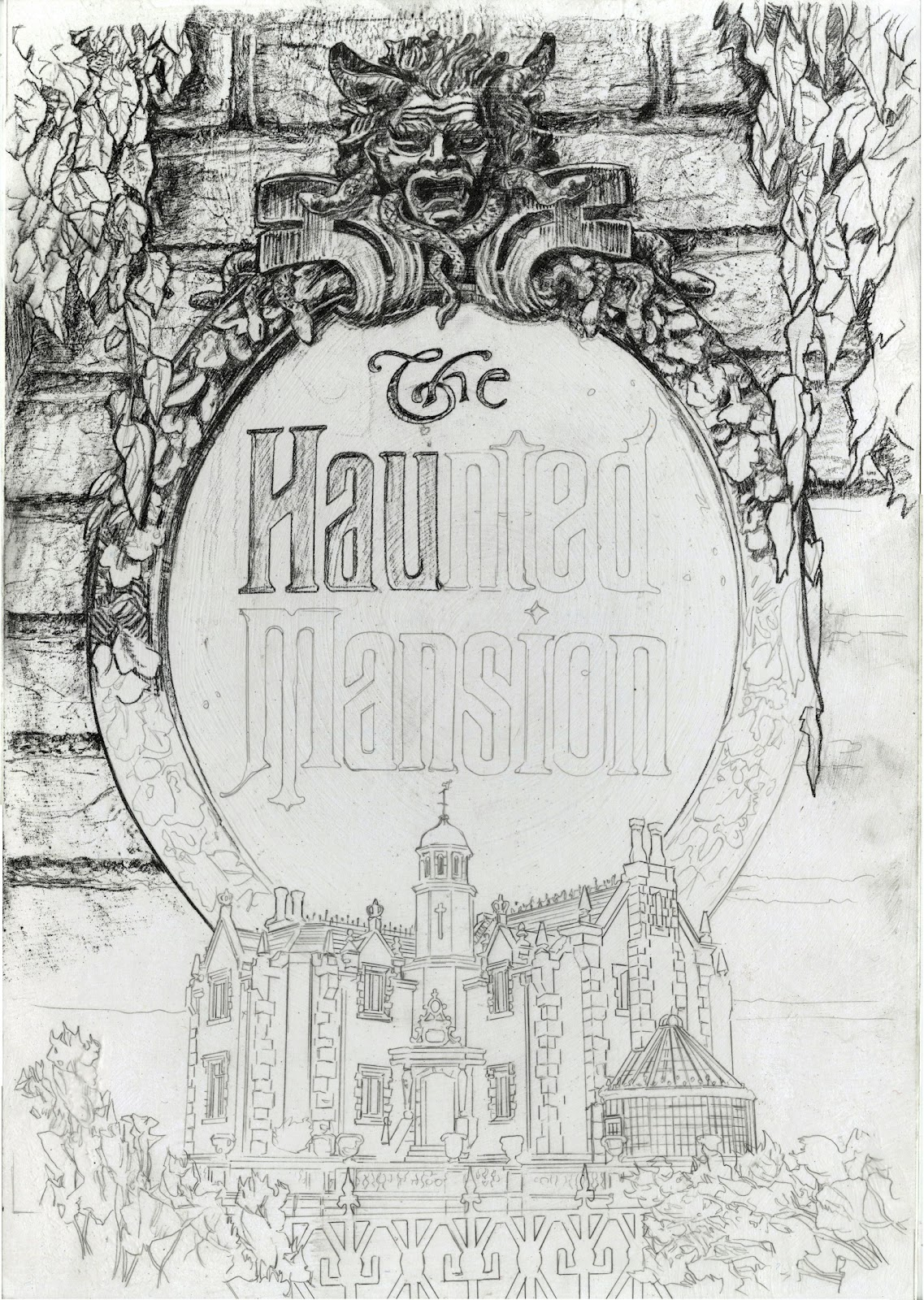 Mansion Drawing: Imagetalker-Dove.: A Haunted Mansion On My Drawing Table
