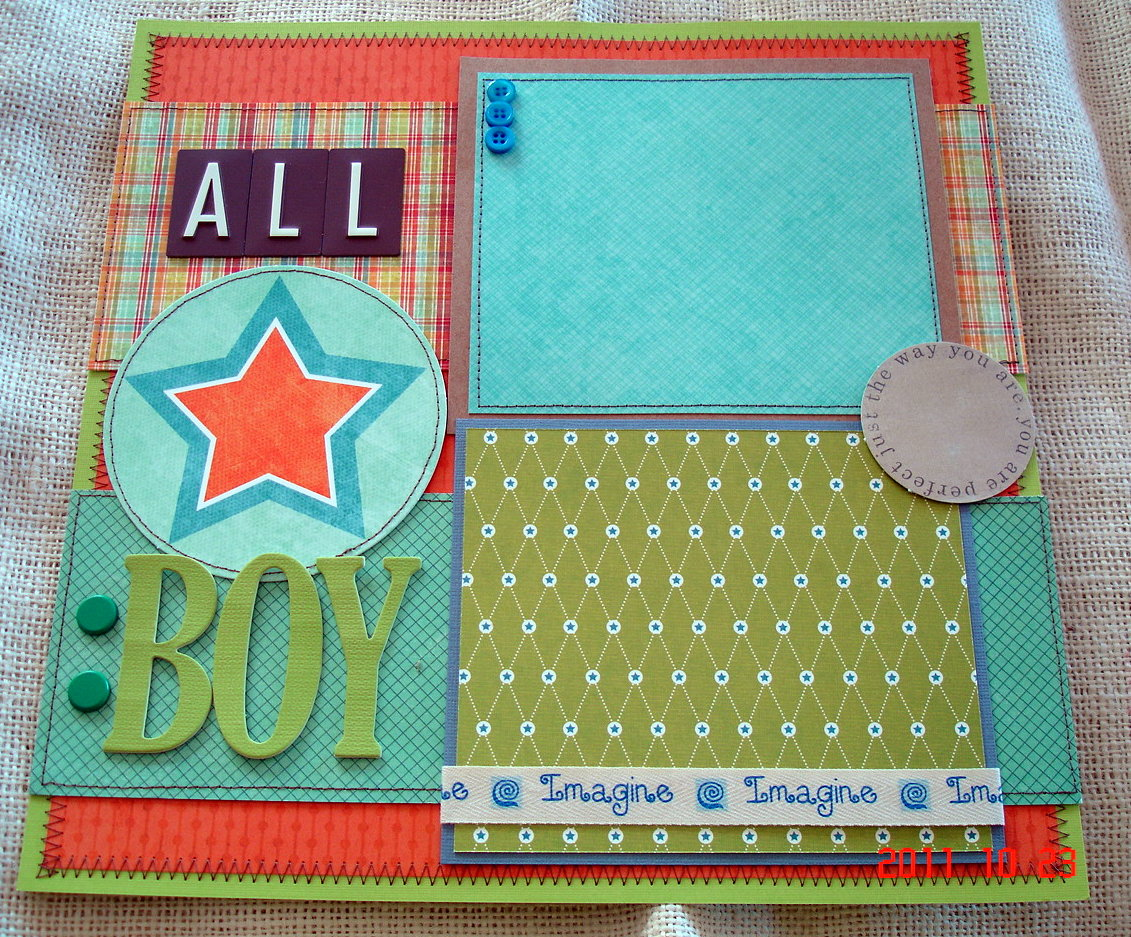 Scrapbooking By Phyllis: Premade 12x12 Scrapbook Layout Pages For Boy