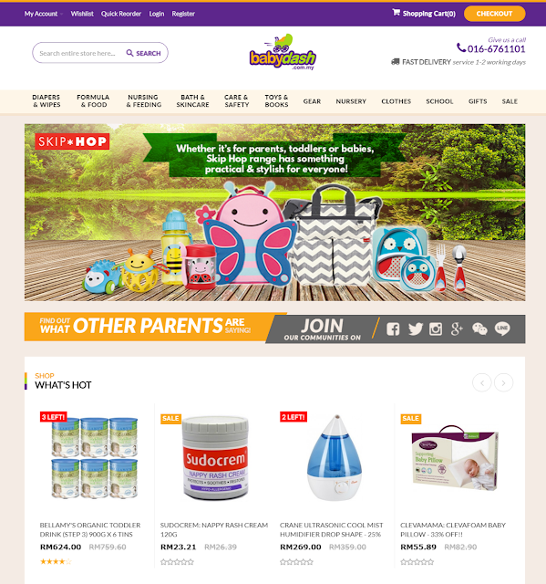 Babydash online website