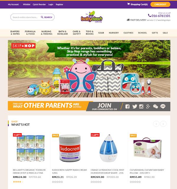 Babydash online website