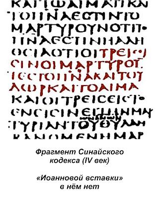 Синайский кодекс: искажения нет