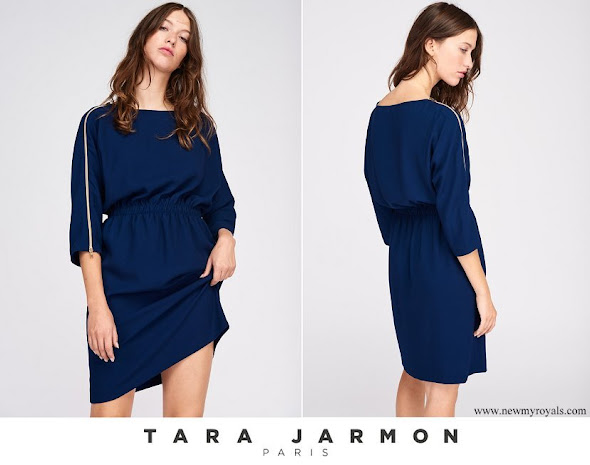 Princess Stephanie wore Tara Jarmon Zip Sleeve Dress
