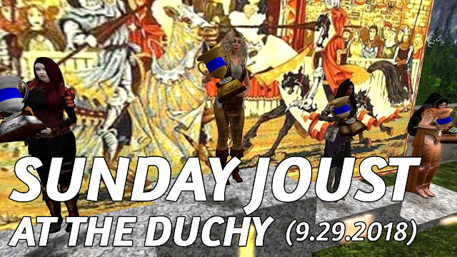 Sunday Joust at the Duchy In Second Life (9.23.2018) • An All Female Jousting Tournament
