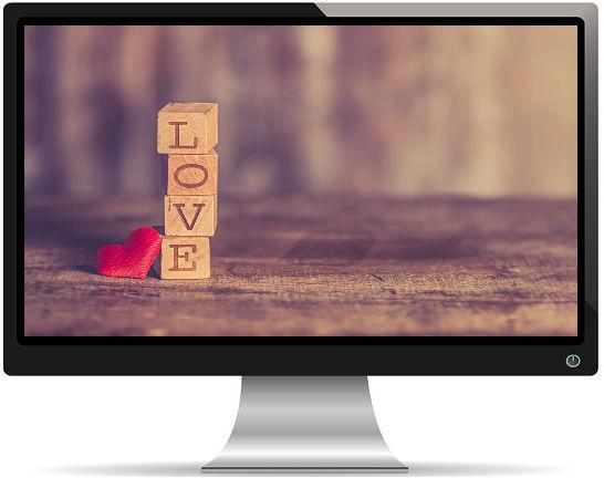 Cubes de Bois Love - Fond d'écran en Full HD