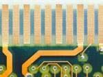 contactos con baño de oro en placa electrónica reparados