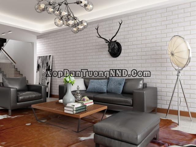 Xốp dán tường 3D là gì! So sánh xốp dán tường và giấy dán tường
