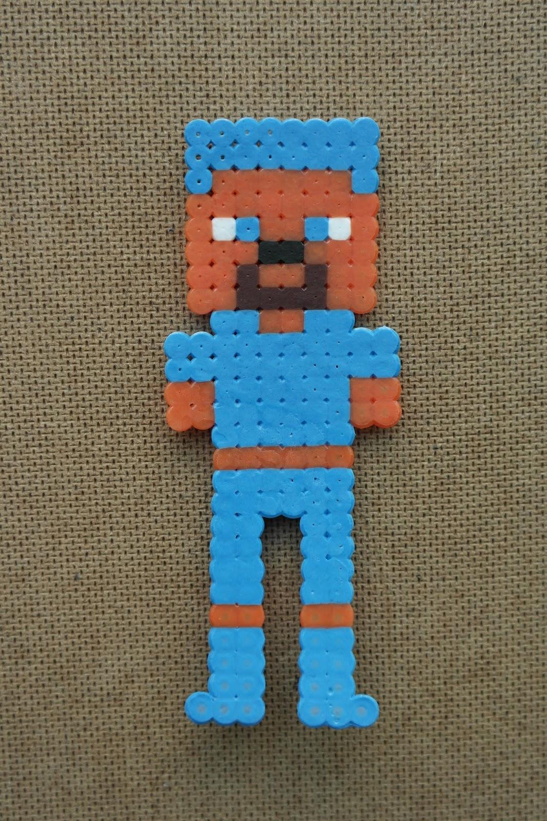 Pyssla Ideas Minecraft Character 01