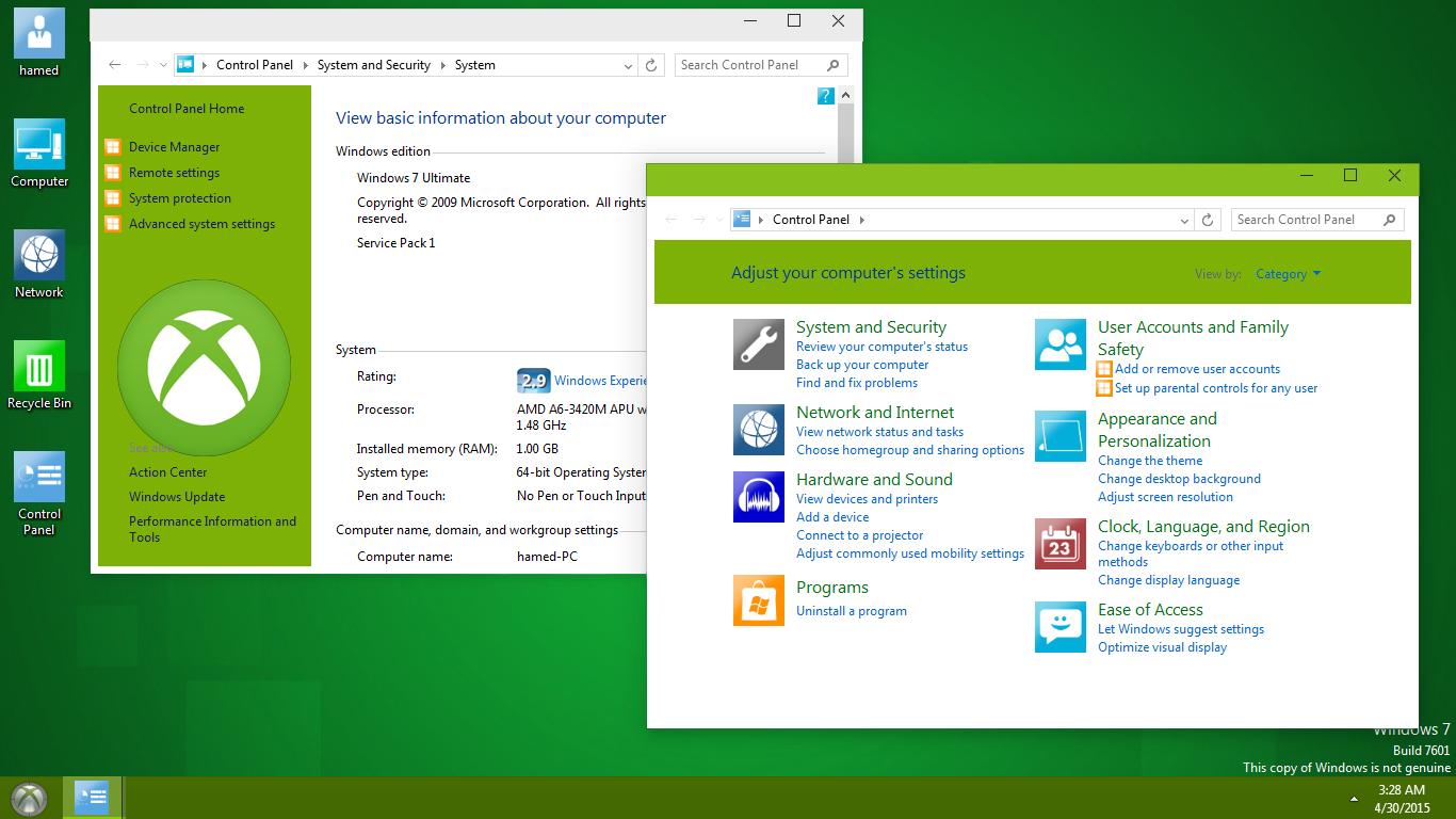 Xbox One 1.0 SkinPack For Win 7 / 8.1   Windows10 Themes I ...